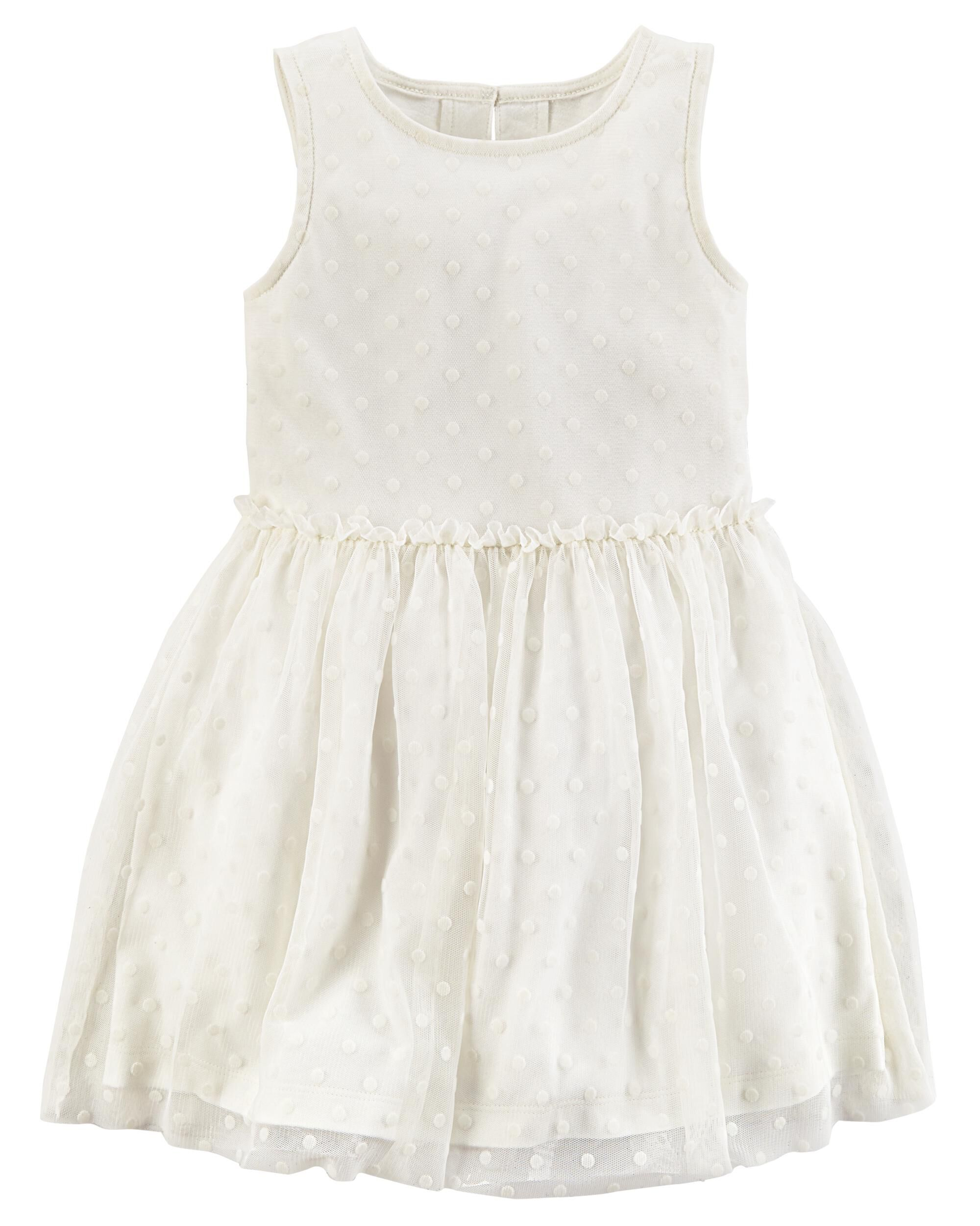 White Satin Dress Carter's