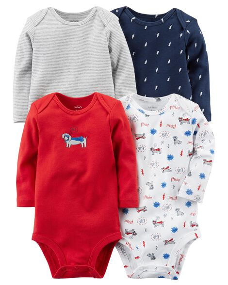 """Personalized Baby Bodysuits make wonderful new baby gifts and usually help create adorable photo opportunities, too! Choose from our wide selection of colors and designs to find the perfect bodysuit that you can personalize for the baby to wear as they leave the hospital or to celebrate an important """"first"""" in the baby's life, such as an upcoming holiday!"""