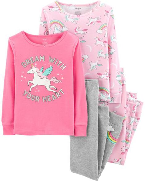 Display product reviews for 4-Piece Unicorn Snug Fit Cotton PJs