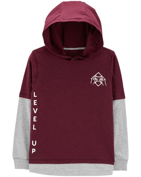 Display product reviews for Hooded Layered-Look Tee