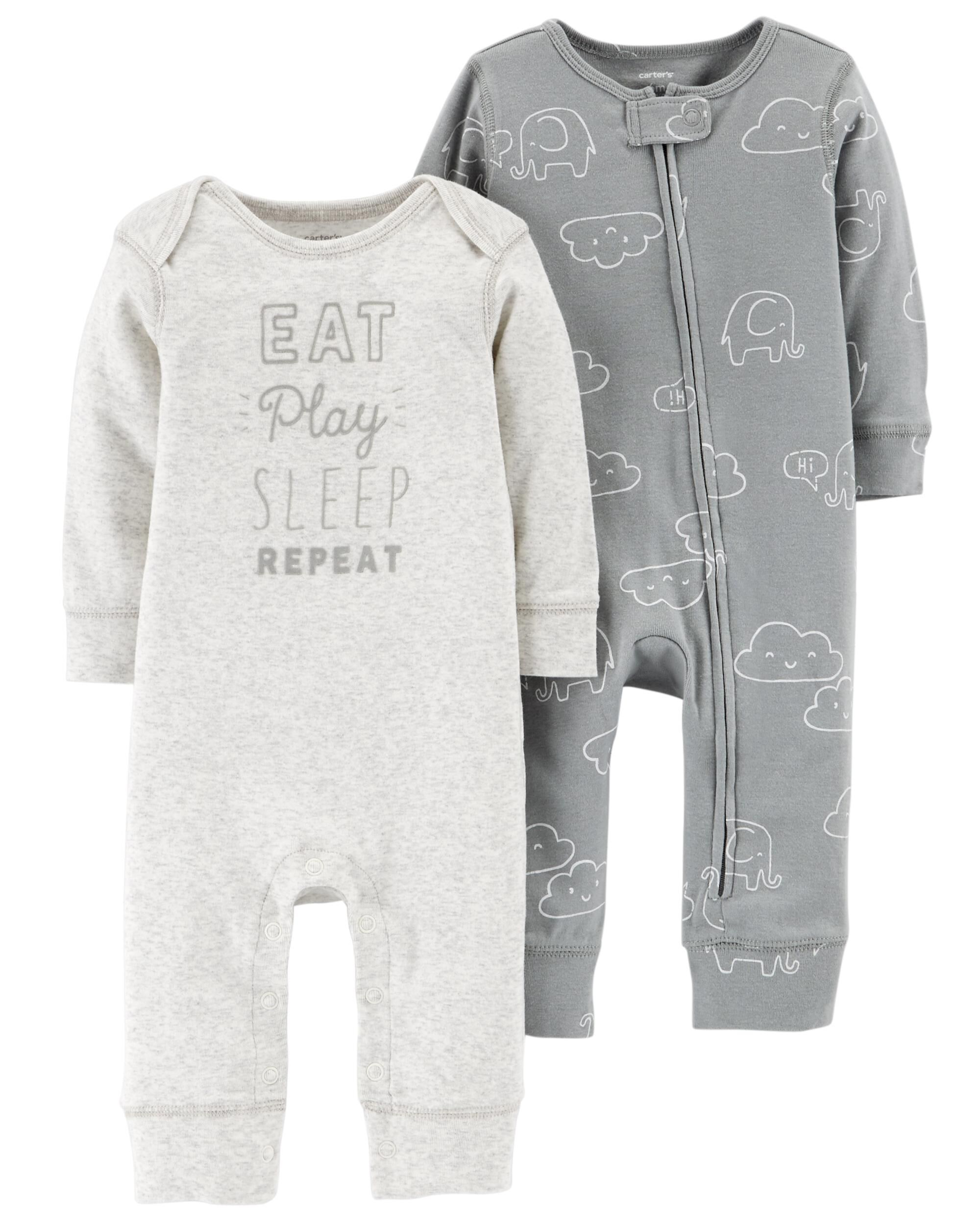 41861094aaac Baby Neutral 2-Pack Jumpsuits