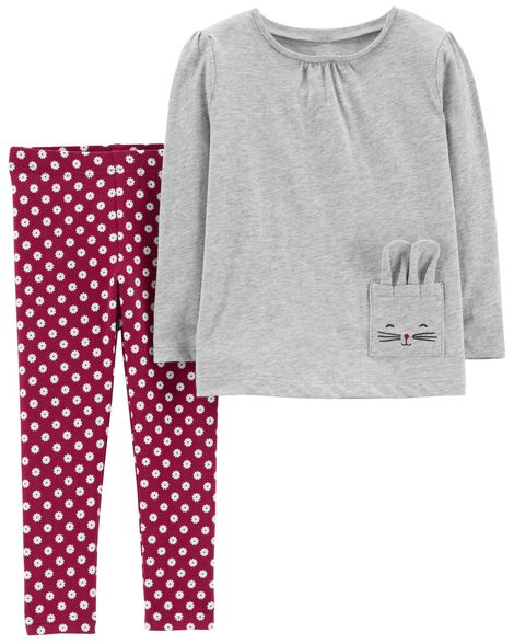Display product reviews for 2-Piece Jersey Top   Polka Dot Legging Set 77ae24f86