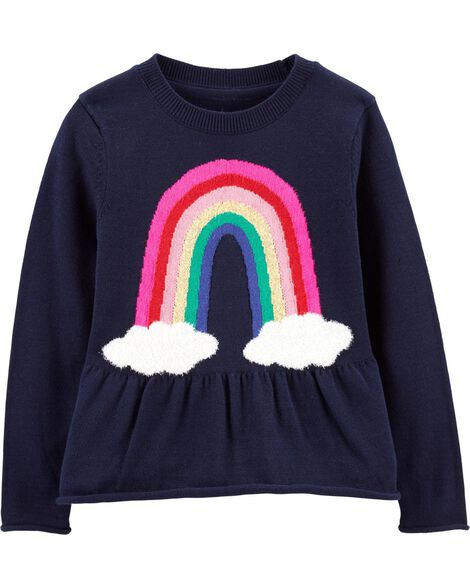 Display product reviews for Rainbow Peplum Sweater