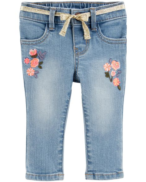 Display product reviews for Floral Pull-On Jeans