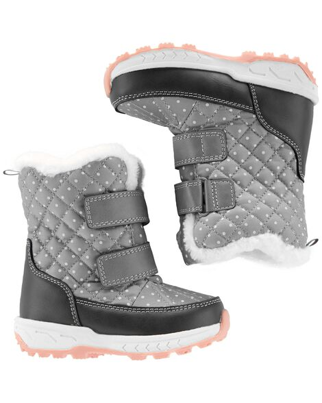 Display product reviews for Carter's Polka Dot Snow Boots