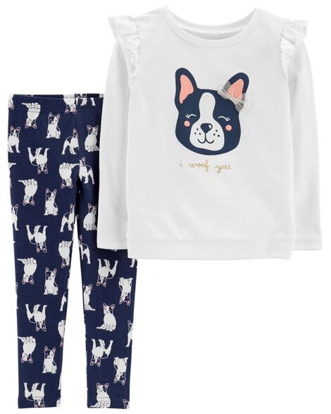 Display product reviews for 2-Piece French Bulldog Sweatshirt & Legging Set