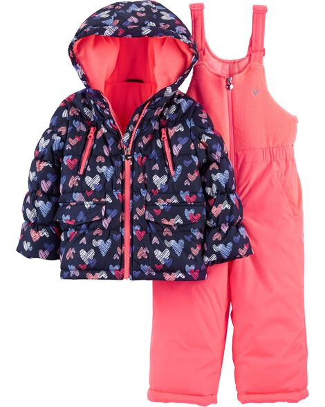 Display product reviews for 2-Piece Heart Snowsuit Set
