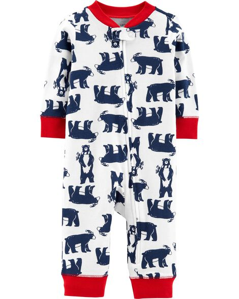 Display product reviews for 1-Piece Bear Snug Fit Cotton Footless PJs