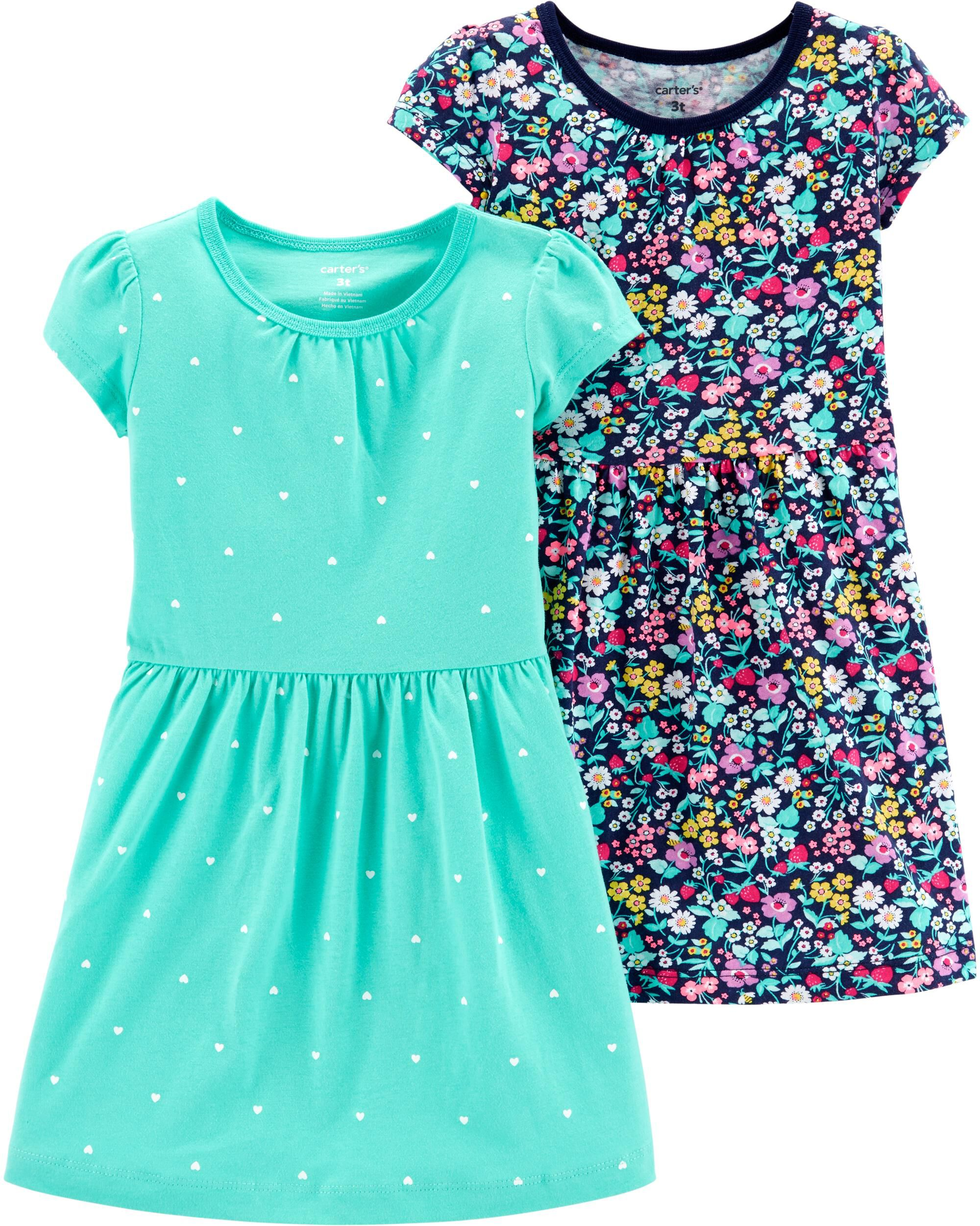 Clothing, Shoes & Accessories New Baby Girl 2 Piece Outfit Carters Size 9 Months Floral Green Spring Summer Girls' Clothing (newborn-5t)