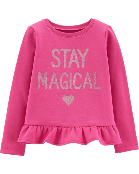 Display product reviews for Glitter Stay Magical Fleece Top