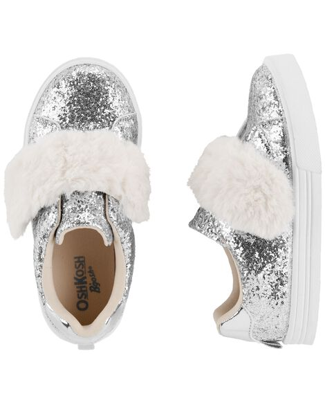 Display product reviews for OshKosh Fur Strap Sneakers