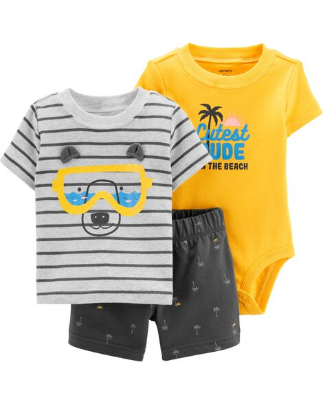 ee29bf4f4d2 Display product reviews for 3-Piece Bear Little Short Set