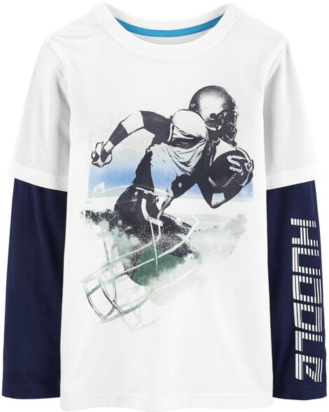 Display product reviews for Football Player Layered-Look Active Tee