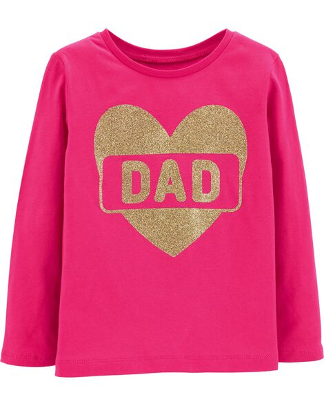 Display product reviews for Glitter Heart Dad Jersey Tee