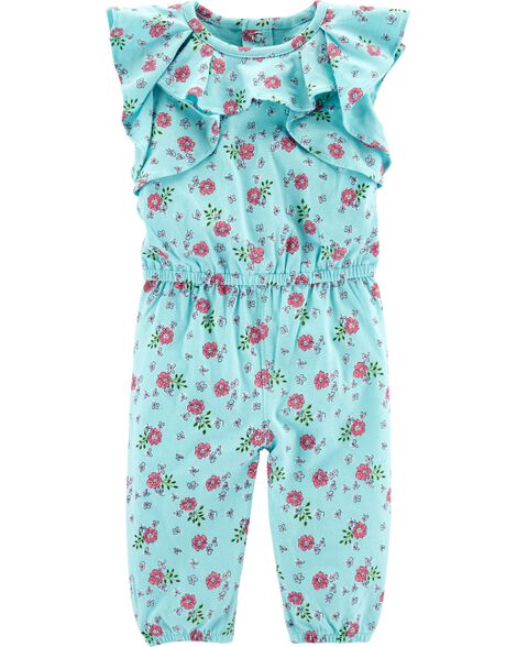 046cdf7f1781 Display product reviews for Floral Ruffle Jumpsuit