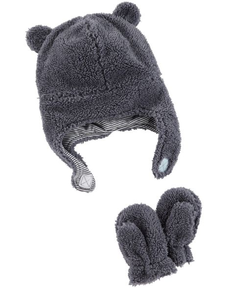 Display product reviews for Sherpa Hat & Mitten Set