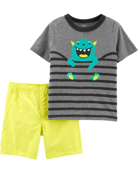Display Product Reviews For 2 Piece Monster Tee Poplin Short Set