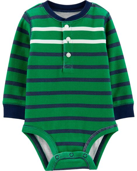 Display product reviews for Striped Henley Bodysuit