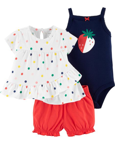 e5015bdab Display product reviews for 3-Piece Strawberry Little Short Set