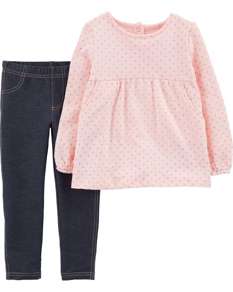 Display product reviews for 2-Piece Polka Dot Fleece Top & Jegging Set