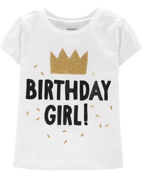 Display Product Reviews For Glitter Birthday Girl Jersey Tee