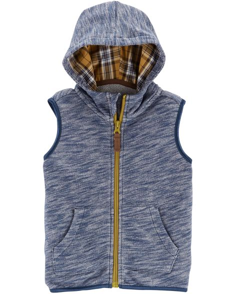 Display product reviews for Zip-Up French Terry Vest