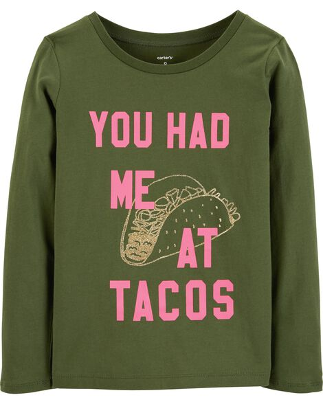 Display product reviews for You Had Me At Tacos Jersey Tee