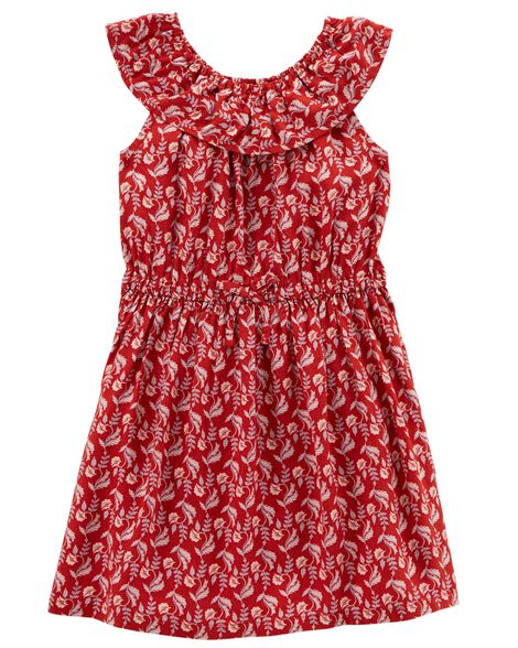 Display product reviews for Ruffle Top Woven Dress