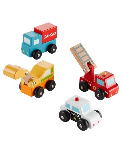 Display product reviews for 4-Pack Wooden Car Set