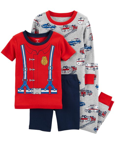 Display product reviews for 4-Piece Firefighter Snug Fit Cotton PJs