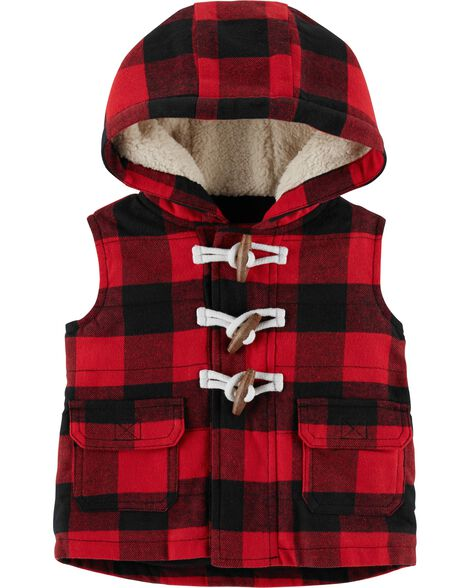 Display product reviews for Buffalo Check Twill Flannel Vest