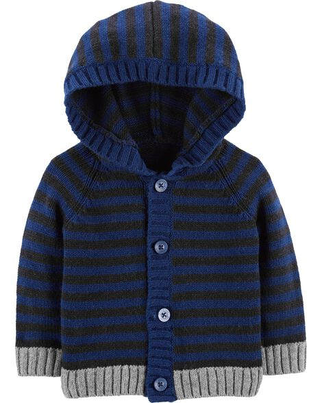 Display product reviews for Striped Cotton Hoodie