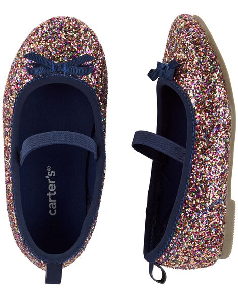 Display product reviews for Carter's Glitter Ballet Flats