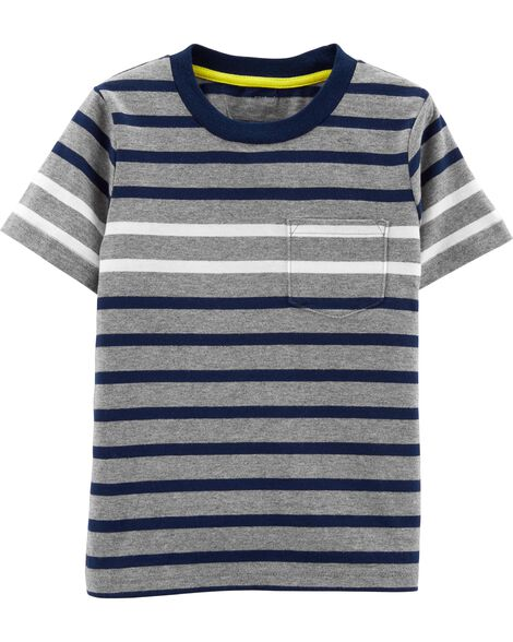 0a91e7a945e18 Display product reviews for Striped Pocket Jersey Tee