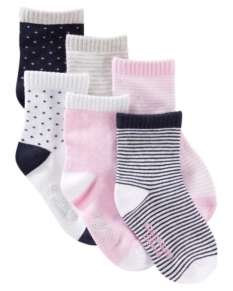 Display product reviews for 6-Pack Patterned Crew Socks