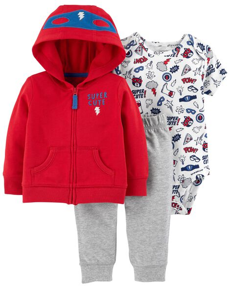 Display product reviews for 3-Piece Superhero Little Jacket Set
