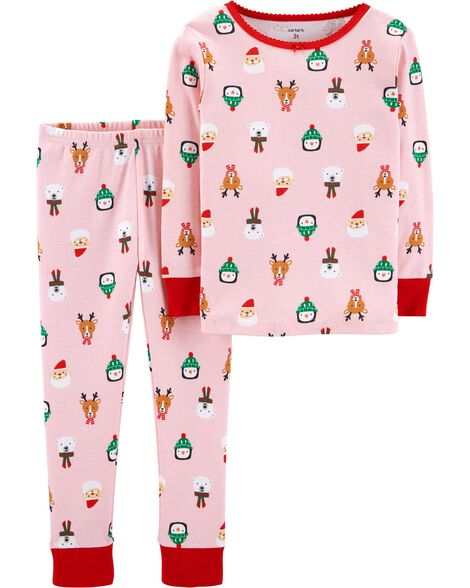 2-Piece Toddler Christmas Snug Fit Cotton PJs  81a919b09