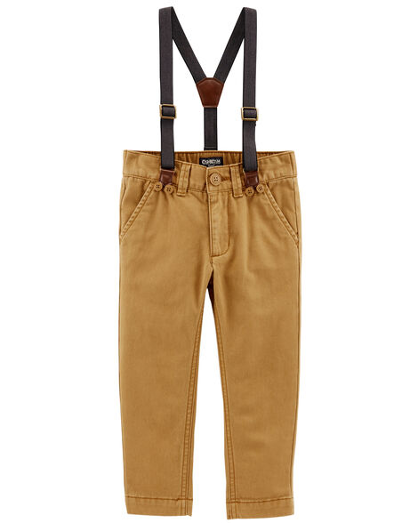 Display product reviews for Twill Suspender Pants