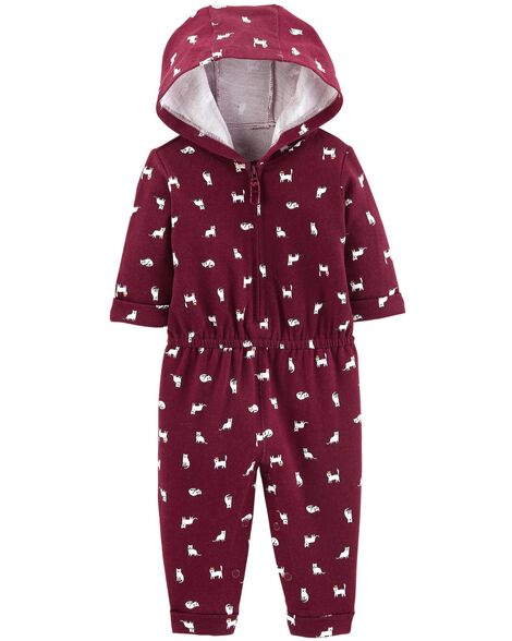 Display product reviews for Cat Hooded French Terry Jumpsuit