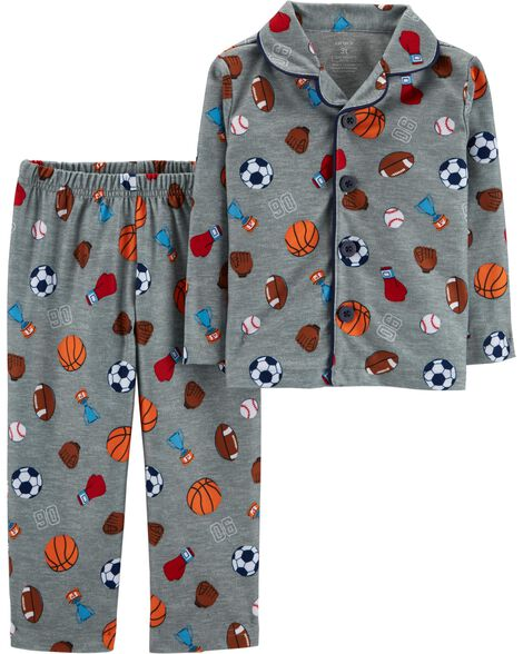 Display product reviews for 2-Piece Sports Print Lightweight Fleece PJs
