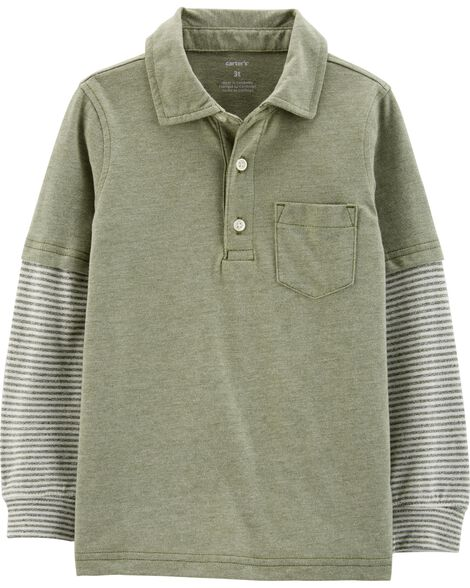 Display product reviews for Layered-Look Polo Shirt