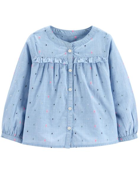 Display product reviews for Sparkle Ruffle-Front Top