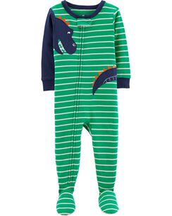 e9b005f95 1-Piece Dinosaur Footed Snug Fit Cotton PJs