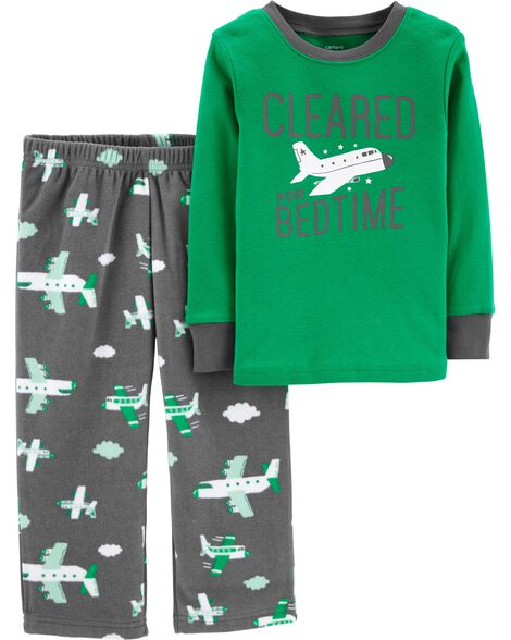 Display product reviews for 2-Piece Airplane Cotton & Fleece PJs