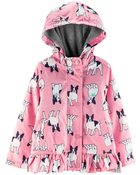 Display product reviews for French Bulldog Fleece-Lined Rain Jacket