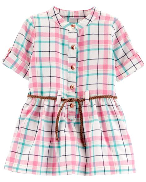 Display product reviews for Plaid Belted Dress