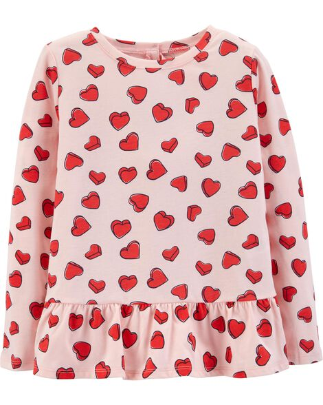 Display product reviews for Heart Peplum Top