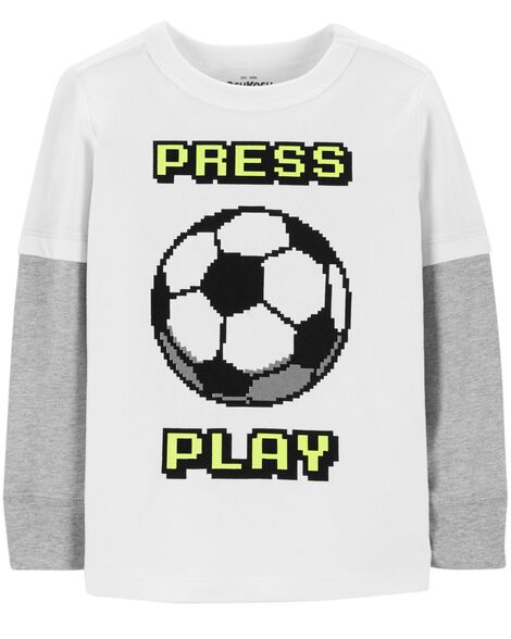 Display product reviews for Layered Look Soccer Tee