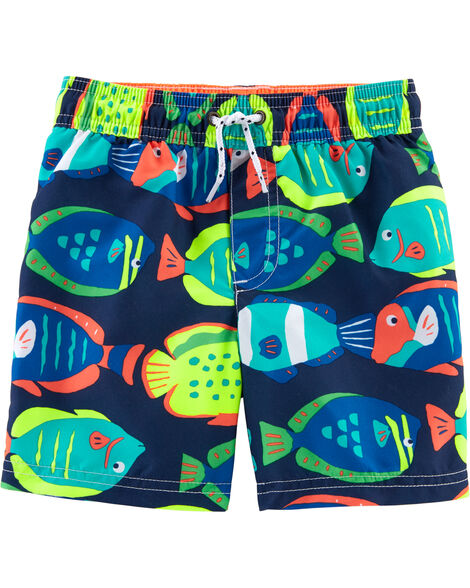 Display product reviews for Carter's Fish Print Swim Trunks