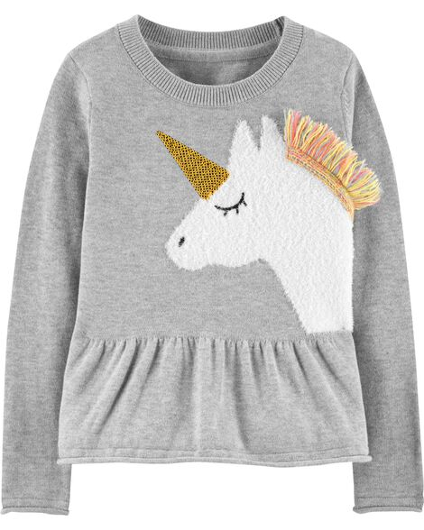 Display product reviews for Unicorn Peplum Sweater